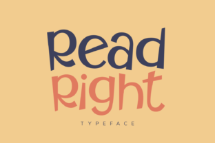 Print on Demand: Read Right Display Font By Creative Fabrica Fonts