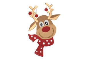 Reindeer 3 Christmas Embroidery Design By Canada Crafts Studio