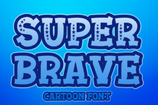 Print on Demand: Super Brave Display Font By Creative Fabrica Fonts