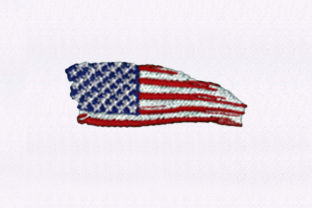 Swinging USA Flag Independence Day Embroidery Design By StitchersCorp