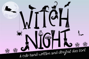 Print on Demand: Witch Night Script & Handwritten Font By Nobu Collections