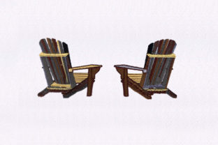 Wooden Patio Chairs House & Home Embroidery Design By StitchersCorp