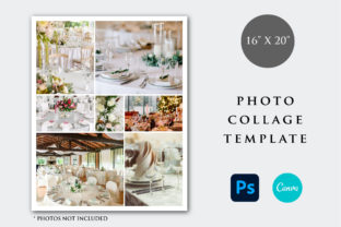 Print on Demand: 16x20 Photo Collage Template Graphic Print Templates By PlannerArtInserts