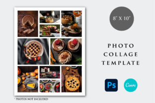 Print on Demand: 8x10 Photo Collage Template Graphic Print Templates By PlannerArtInserts