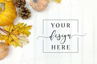 Fall Themed Background Flatlay Backdrop Graphic Backgrounds By SlyDesignStudio