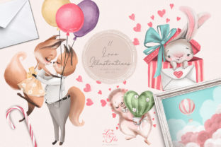 Print on Demand: Love is in the Air Graphic Illustrations By Anna Babich 4