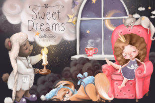 Print on Demand: Sweet Dreams Graphic Illustrations By Anna Babich 1