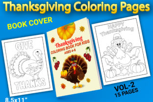 Print on Demand: Thanksgiving Coloring Pages with Book Graphic Coloring Pages & Books Kids By Simran Store