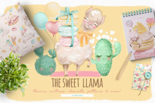 Print on Demand: The Sweet Llama Graphic Illustrations By Anna Babich