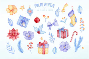 Watercolor Polar Bear Christmas Clipart Graphic Illustrations By SipkaDesigns 3