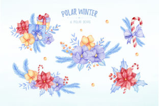 Watercolor Polar Bear Christmas Clipart Graphic Illustrations By SipkaDesigns 4