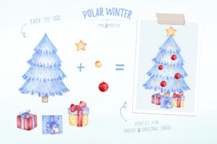 Watercolor Polar Bear Christmas Clipart Graphic Illustrations By SipkaDesigns 5