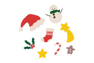 Christmas Clipart Sticker Set Christmas Craft Cut File By Creative Fabrica Crafts 1