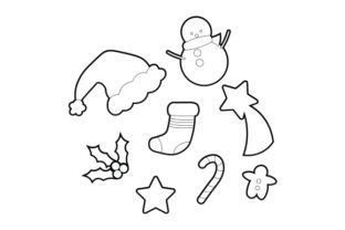 Christmas Clipart Sticker Set Christmas Craft Cut File By Creative Fabrica Crafts 2