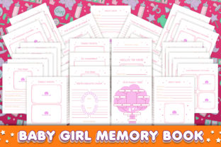 Print on Demand: Baby Girl Memory Book - Editable Graphic KDP Interiors By okdecoconcept