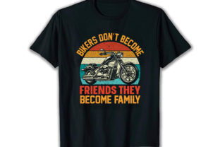 Print on Demand: Bikers Don't Become Best Selling T Shirt Graphic Print Templates By merchbundle-1