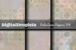 Boho Geom Papers   FREEBIE Graphic Backgrounds By FlyingMonkies