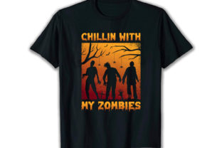 Print on Demand: Chillin with My Best Selling T Shirt Graphic Print Templates By merchbundle-1