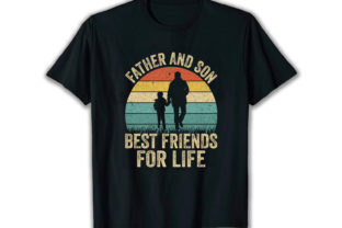 Print on Demand: Father and Son Best Selling T Shirt Free Graphic Print Templates By merchbundle-1