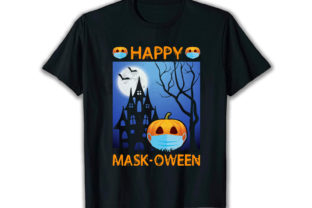 Print on Demand: Happy Mask Oween Best Selling T Shirt Graphic Print Templates By merchbundle-1