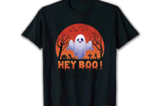 Print on Demand: Hey Boo Best Selling T Shirt Design Graphic Print Templates By merchbundle-1