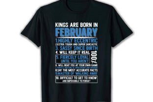 Print on Demand: Kings Are Born Best Selling T Shirt Graphic Print Templates By merchbundle-1