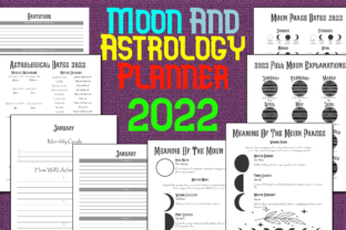 Print on Demand: Moon and Astrology Planner 2022 Graphic KDP Interiors By Mary's Designs