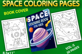 Print on Demand: Space Coloring Pages with Book Cover Graphic Coloring Pages & Books Kids By Simran Store