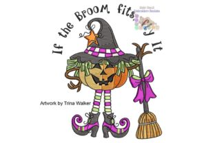 Witchin Halloween Embroidery Design By BabyNucci Embroidery Designs