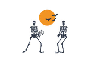 Skeleton Volleybal Game Halloween Craft Cut File By Creative Fabrica Crafts