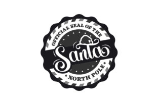 Official Seal of the North Pole Christmas Craft Cut File By Creative Fabrica Crafts 2