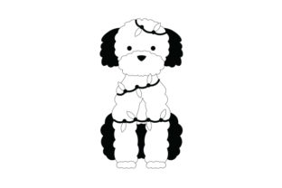 Black Poodle Wrapped in Christmas Lights Dogs Craft Cut File By Creative Fabrica Crafts 2