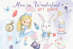 Alice in Wonderland PNG Clipart. Graphic Illustrations By CosyArtStore by RivusDea 2