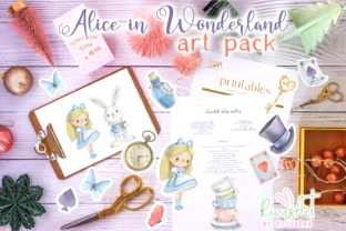 Alice in Wonderland PNG Clipart. Graphic Illustrations By CosyArtStore by RivusDea 3