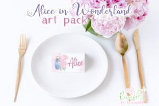 Alice in Wonderland PNG Clipart. Graphic Illustrations By CosyArtStore by RivusDea 5