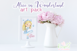 Alice in Wonderland PNG Clipart. Graphic Illustrations By CosyArtStore by RivusDea 6
