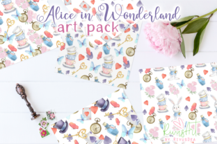 Alice in Wonderland PNG Clipart. Graphic Illustrations By CosyArtStore by RivusDea 7