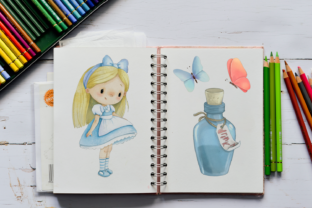 Alice in Wonderland PNG Clipart. Graphic Illustrations By CosyArtStore by RivusDea 8