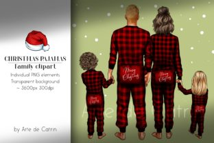 Christmas Pajamas, Family Clipart, PNG Graphic Illustrations By Arte de Catrin