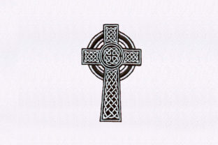 Detailed Cross Religion & Faith Embroidery Design By StitchersCorp