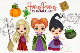 Hocus Pocus Fan Art. Hocus Pocus Witches Graphic Illustrations By CosyArtStore by RivusDea