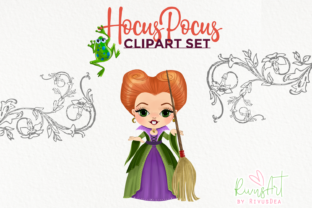 Hocus Pocus Fan Art. Hocus Pocus Witches Graphic Illustrations By CosyArtStore by RivusDea 2