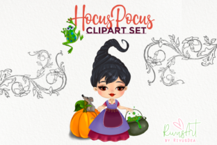 Hocus Pocus Fan Art. Hocus Pocus Witches Graphic Illustrations By CosyArtStore by RivusDea 3