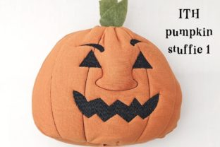 ITH Pumpkin Stuffie Face Halloween Embroidery Design By Ballyhoo Creations