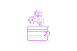 Litecoin Cryptocurrency Payment Line Graphic Icons By Graphic Idea