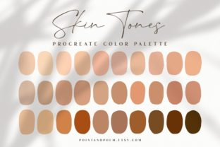 Procreate Color Palette   Skin Tones Graphic Add-ons By point