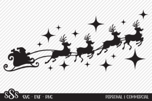 Print on Demand: Santa's Sleigh - Christmas Designs Graphic Crafts By texassoutherncuts