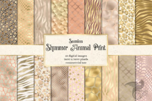 Print on Demand: Shimmer Animal Print Digital Paper Graphic Textures By Digital Curio