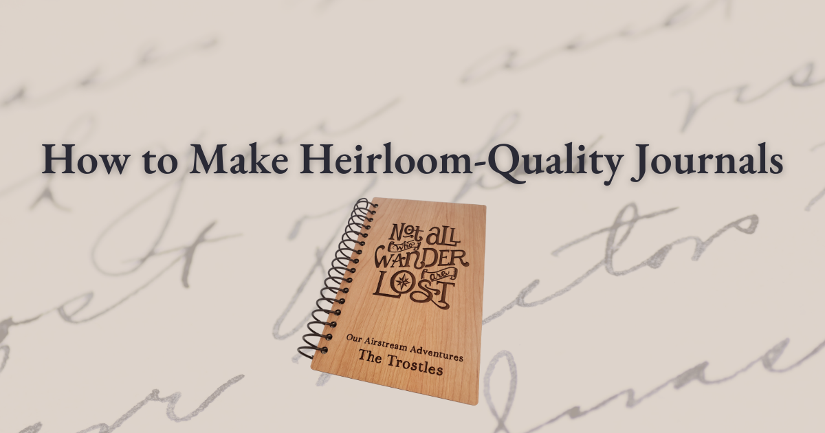 How to Make Heirloom-Quality Journals