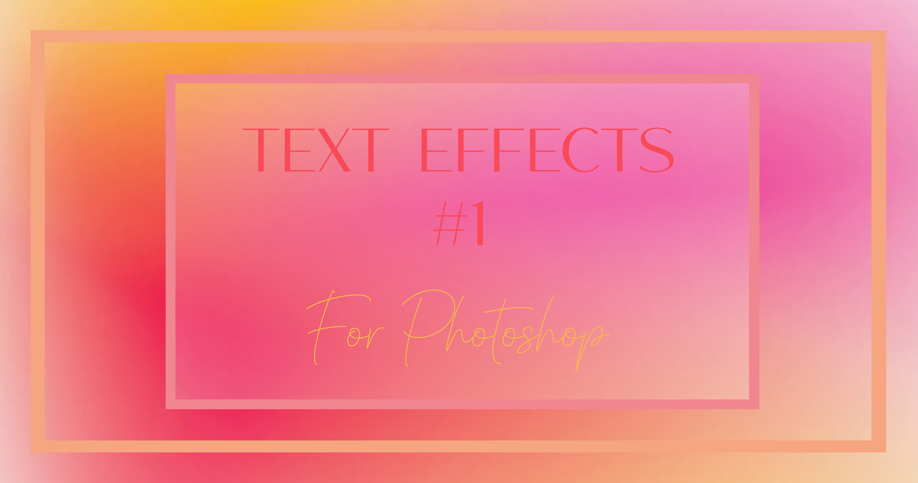 Photoshop Text Effects #1